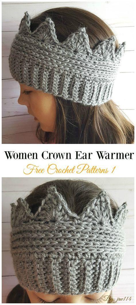 Trending Women Ear Warmer Free Crochet Patterns #crochetclothes