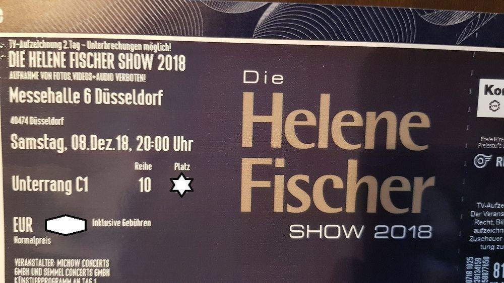 Helene Fischer Show 2018 Dusseldorf 8 12 Ticket Unterrang Https Ebay To 2zatggp Dusseldorf Ticket Airline
