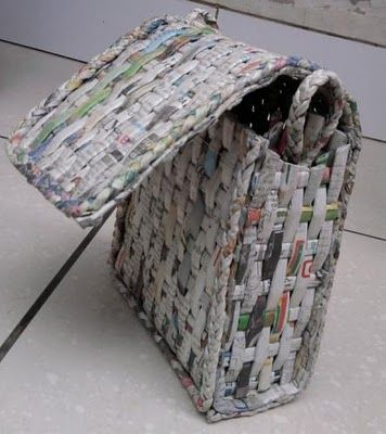 Recycled Newspaper Bag Craft Diy