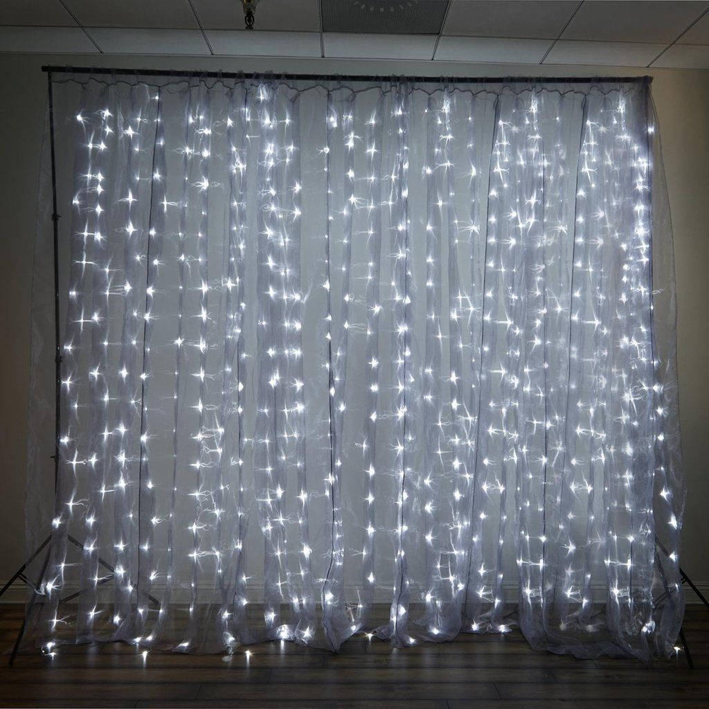 20ft X 10ft 600 Sequential Cool Led Lights Big Photography Organza Curtain Backdrop Curtain Backdrops Light Backdrop White Led Lights