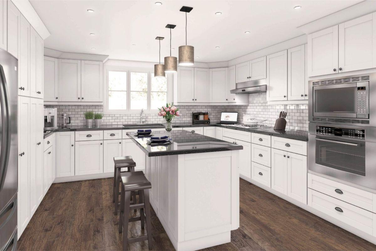 Aspen White Shaker Cabinets Best Selling Discounted Get A Free Design In 2020 White Shaker Cabinets White Shaker Kitchen Cabinets White Kitchen Design