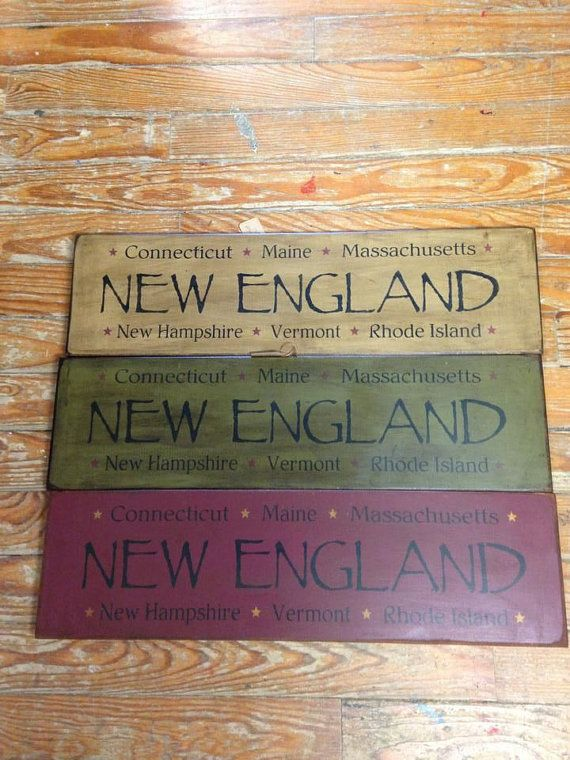 New England Primitive Country Wooden Sign by ...