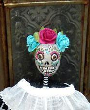 ooak pfatt dod day of the dead dia de los muertos skeleton folk art rh pinterest com