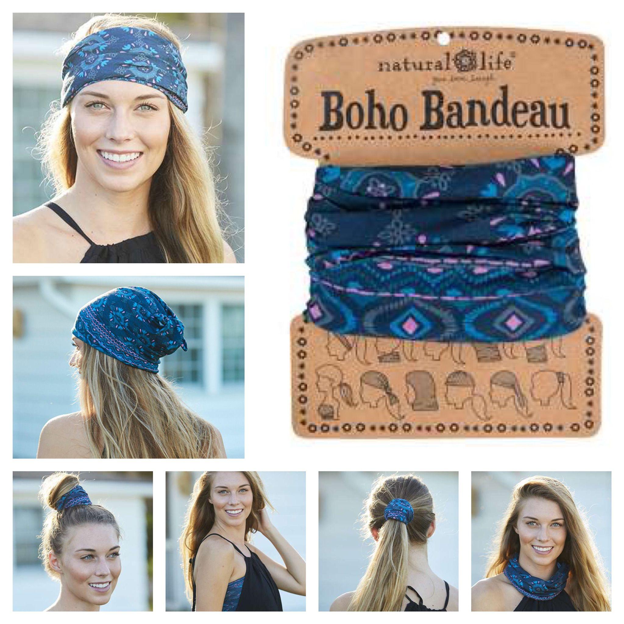 Boho Bandeau Haarband Blue ❤ Wrap it   Wear it Nieuwe prints en kleuren Boho  Bandeau s in de webshop 72199379059