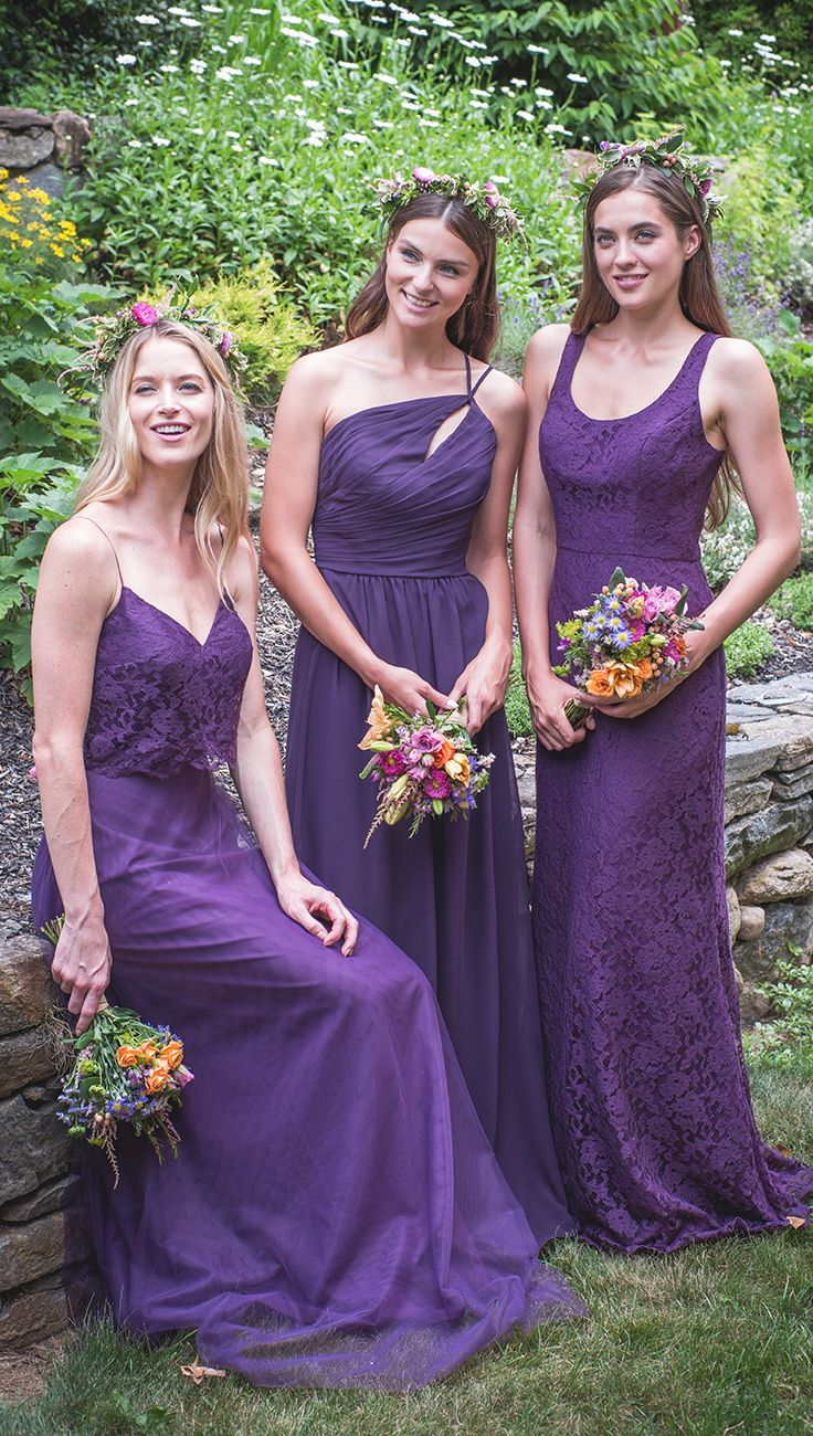 Deep purple bridesmaids dresses will add beautiful contrast to deep purple bridesmaids dresses will add beautiful contrast to your ceremony with our color eggplant ombrellifo Gallery
