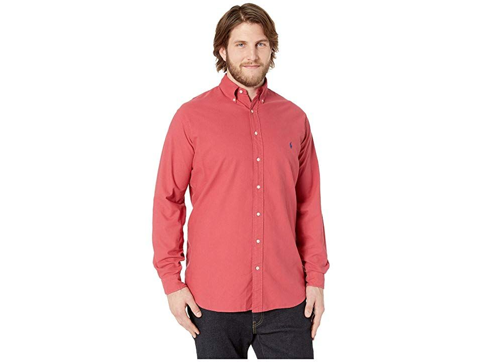 e1e5670b Polo Ralph Lauren Big Tall Solid Garment Dyed Oxford Long Sleeve Classic Fit  Sports Shirt (