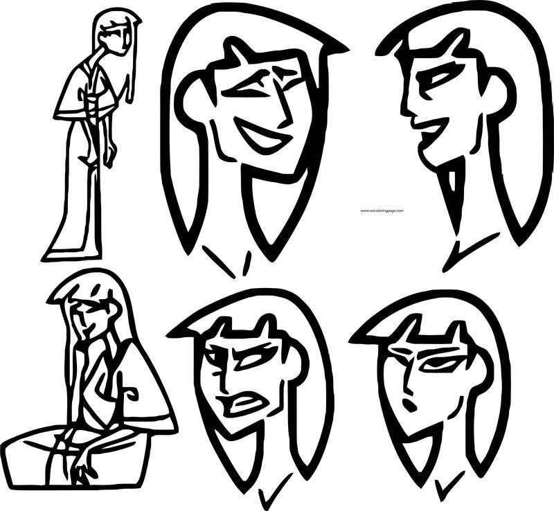 Character Design Assignment Woman Face Coloring Page. Also