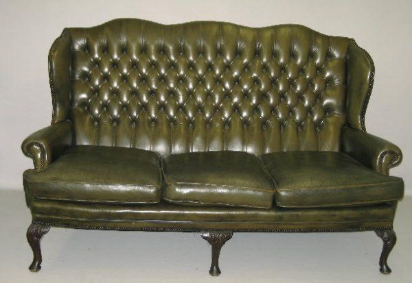 Image For Latest Olive Green Leather Sofa 2016
