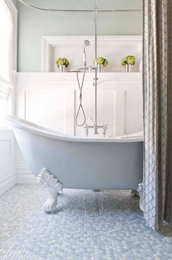 Clawfoot Tub Bathroom Ideas Bathroom Traditional With Shower