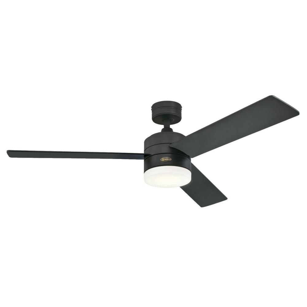 Westinghouse alta vista 52 in led matte black ceiling fan black led matte black ceiling fan aloadofball Image collections