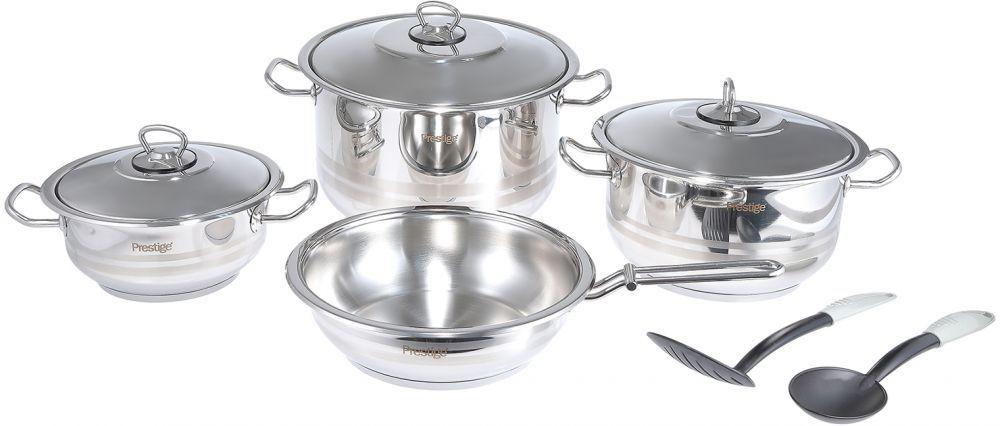 Prestige 9 Pieces Stainless Steel Cookware Set Pr7001 Cookware Set Stainless Steel Cookware Set Stainless Steel Cookware Non stick stainless steel cookware set