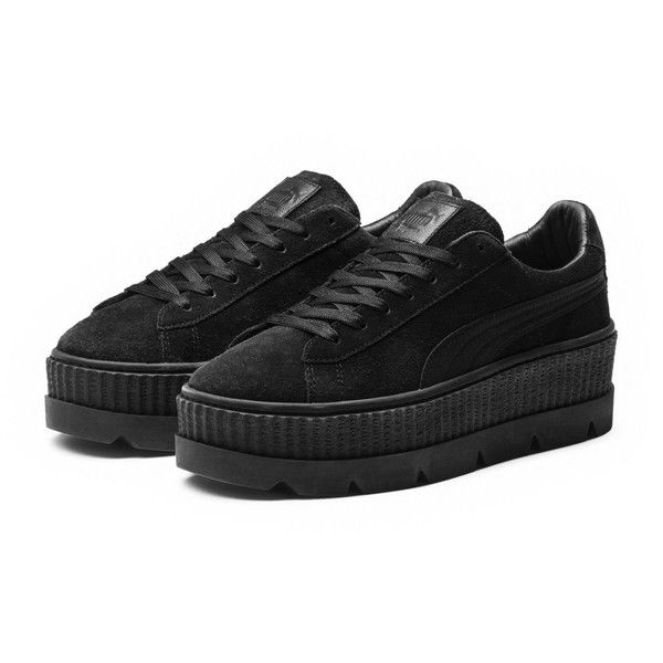 551d572a62d5 Fenty Suede Cleated Creeper Women s Sneakers ( 165) ❤ liked on Polyvore  featuring shoes