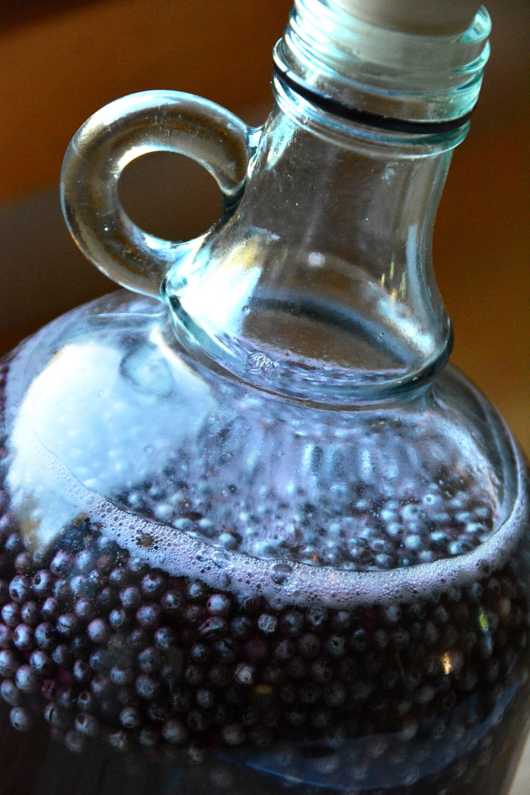 Beautiful Wild Fermentation Used Yeast From Elderberry Bloom White Coating On The Berries In
