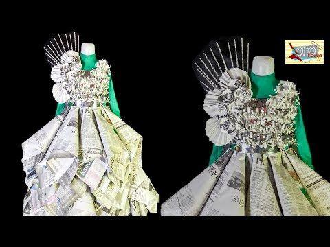 Cara Membuat Baju Costum Dari Koran Bekas Karnaval Lomba 17