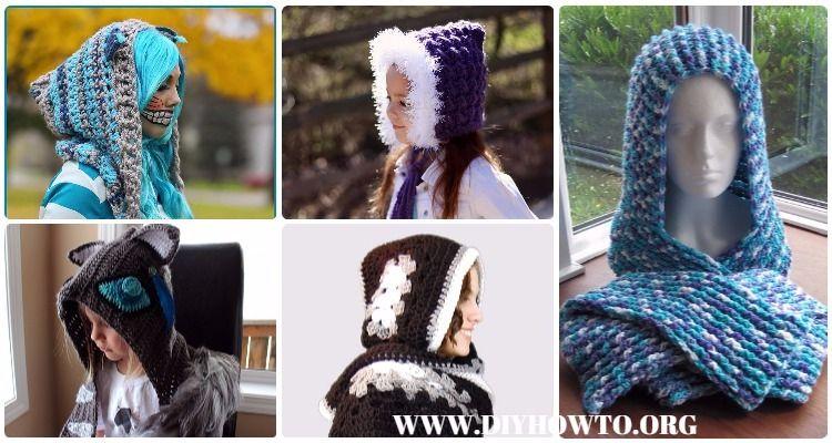 Crochet Hoodie Scarf Scoodie Free Patterns & Paid: Crochet Scoodie ...