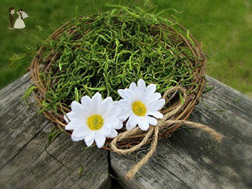 White daisy centerpiece twig and moss birds nest decor party white daisy centerpiece twig and moss birds nest decor party wedding decorations wedding junglespirit Choice Image