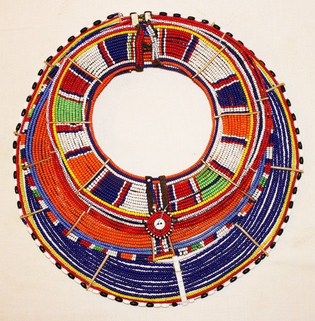 4 Layer Beaded Neck Piece From The Masai People