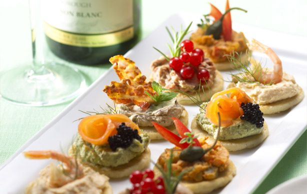Cocktail Blini Serving Suggestions Catering Food Central Food Entertaining Recipes