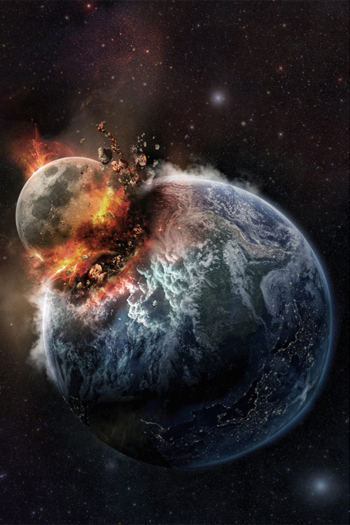 Moon Crash One Day In The Future Space Art Universe Art Space Artwork