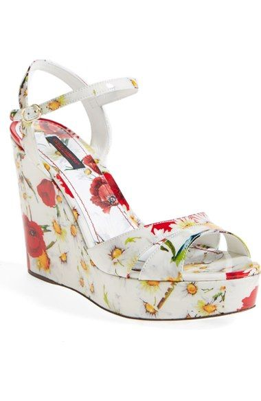 541b2abb9a8ba8 Dolce Gabbana Floral Wedge Sandal (Women) available at  Nordstrom ...