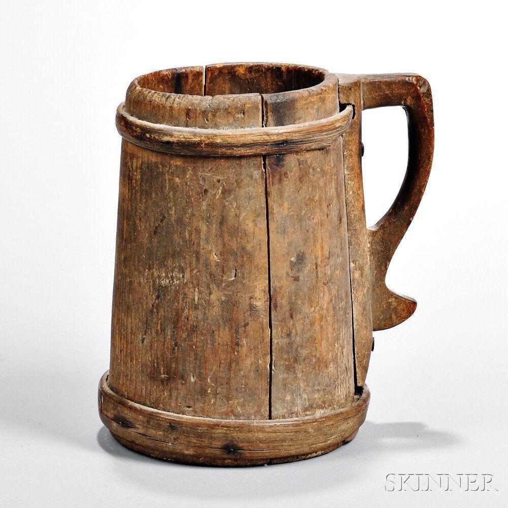 Sold 3 250 Early Wood Tankard Beer Wood Tankard