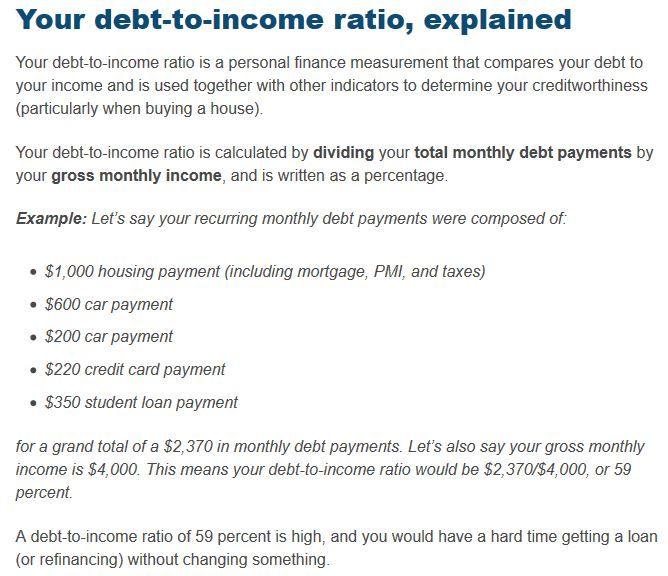 Debt To Income Ratio Calculator Debt To Income Ratio Debt Debt