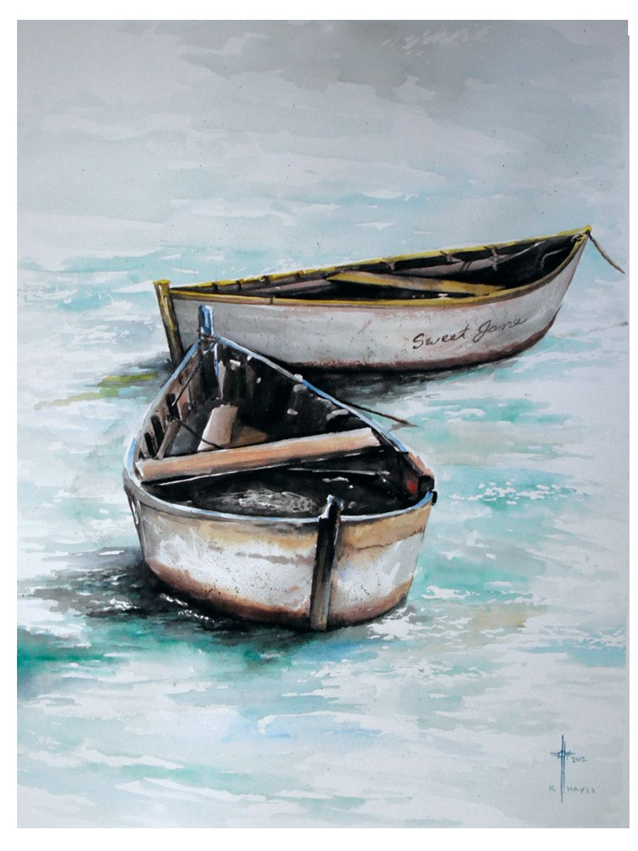 How To Paint A Boat On The Beach Beach Painting Boat Painting