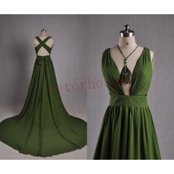 Dark Green Long Prom Dresses 2015 Party Dresses ($122) ❤ liked on Polyvore featuring dresses, black, women's clothing, long cocktail dresses, chiffon prom dresses, black zipper dress, black dress and long black cocktail dresses