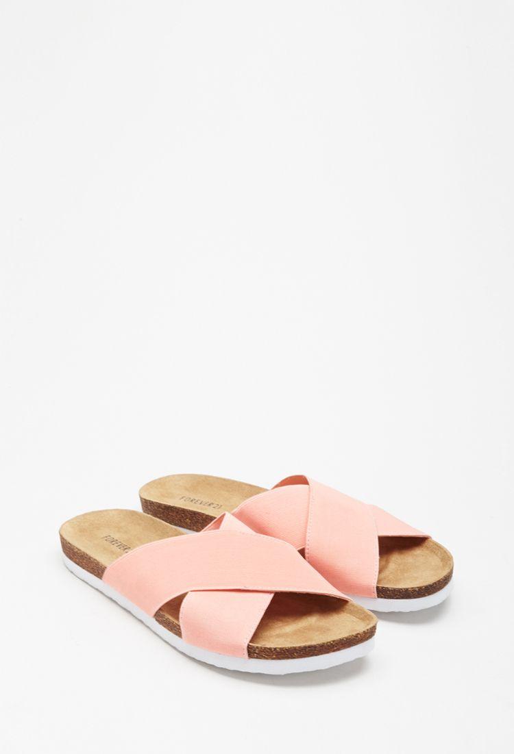 sports shoes 9a10e 4b1dd Slider mit elastischen Riemchen - Damen Schuhe und Stiefel ...