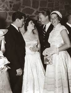 Screen Star Van Johnson And His Wife Evie Right Congratulate Elizabeth Taylor Her Husband Conrad Hilton Left At Their Wedding Reception In Beverly