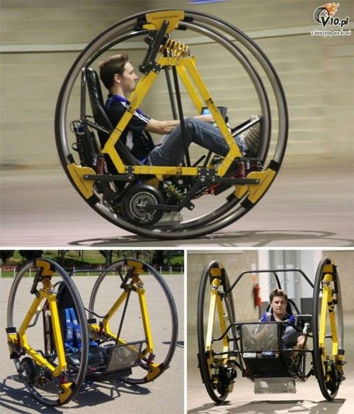 Electric Diwheel With Active Rotation Damping - futuristic look