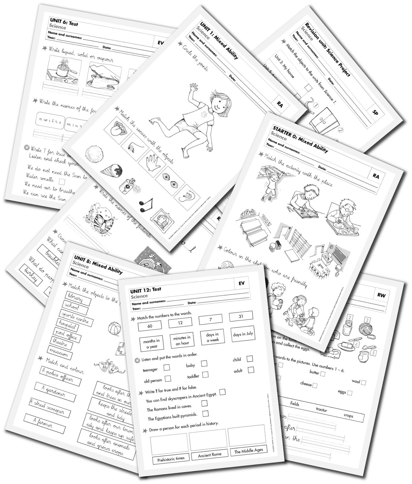 Material Fotocopiable De Science 1º St Fichas Partes Del Cuerpo En Ingles Ejercicios De Ingles