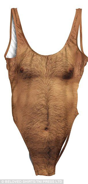 716eb834c9 The swimwear, called 'Sexy Chest One Piece Swimsuit' is digitally printed  with the torso of a hairy male.