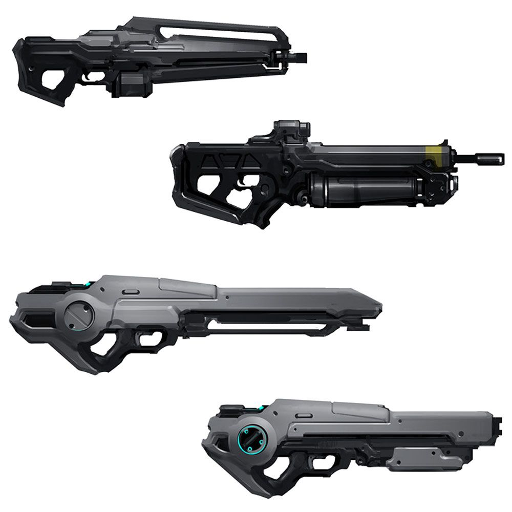 how to draw halo 4 weapons