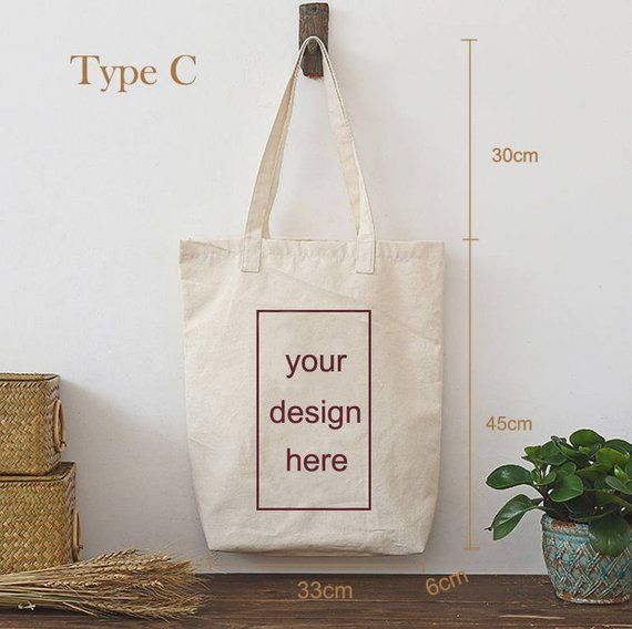 9e91c8dc57 Custom printed canvas tote bag personalize LOGO black/ white /creamy white  packaging wedding drawst