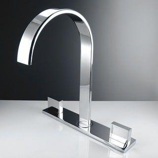 Fresca Sesia Wideset Mount Chrome Bathroom Faucet | Overstock.com ...
