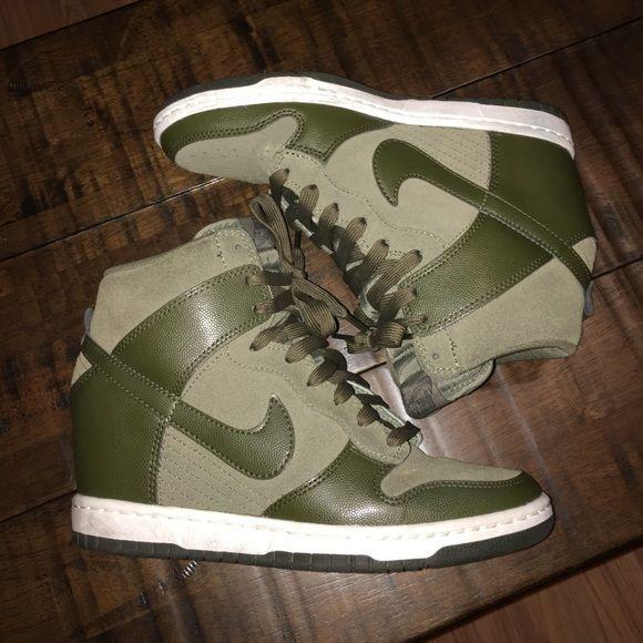 ae4f1e536cd Nike Dunk Sky Hi Sz 7- Olive Army Green- minimal wear- Nike Shoes