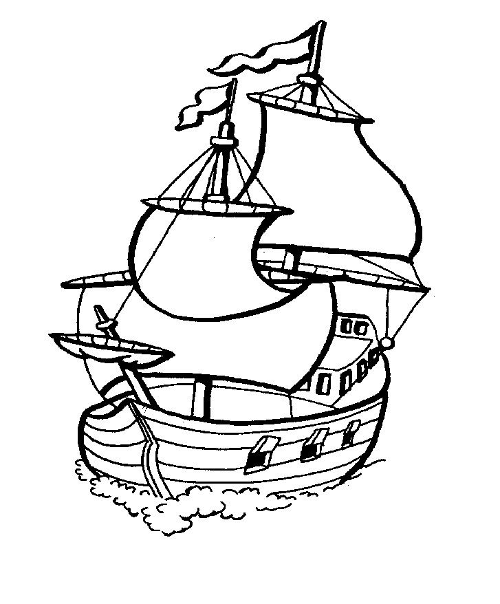 Free Printable Boat Coloring Pages For Kids Clip Art Pinterest