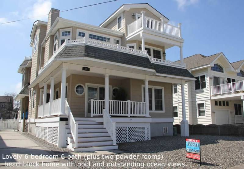 jersey shore vacation rentals avalon beach block spectacular 6br