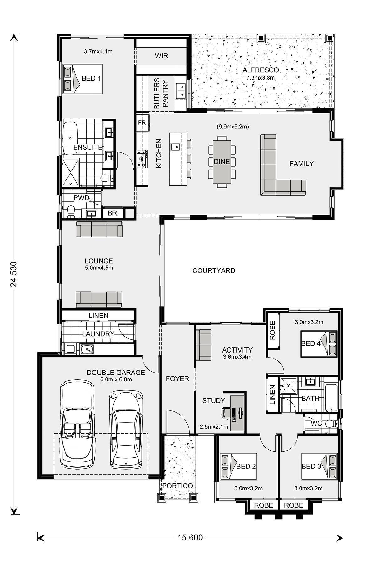 House Plans For Building 2021 Home Design Floor Plans U Shaped House Plans Courtyard House Plans