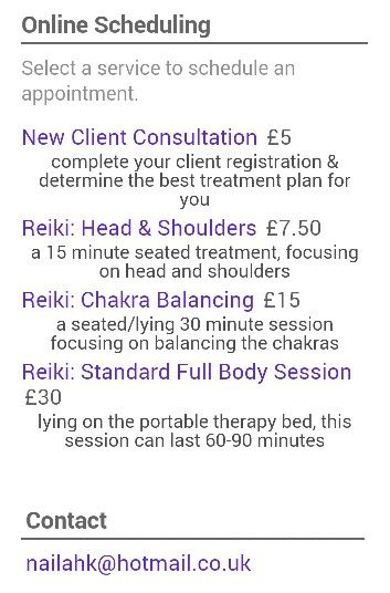 Use the online booking form to choose your #Reiki session in #Wirral & #Chester.  Available on Tuesday & Thursday
