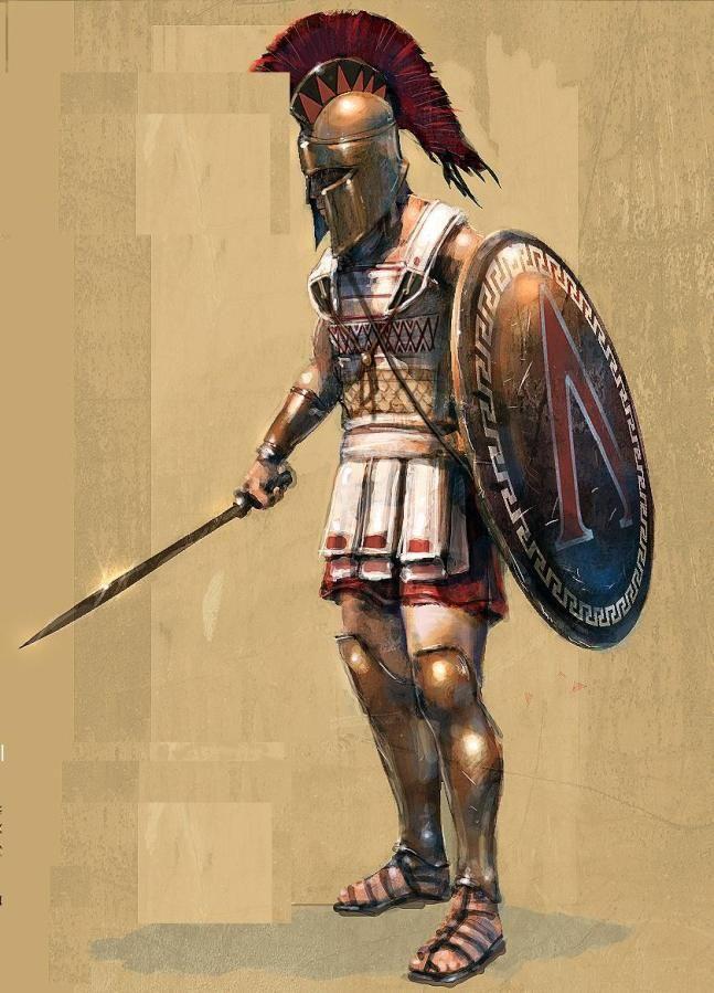 Resultat d'imatges de hoplitas espartanos dibujo