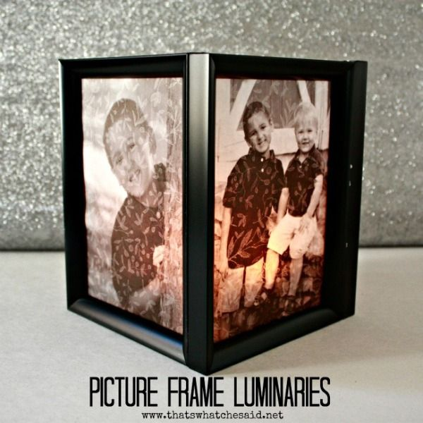 Picture Frame Luminaries - That\'s What Che Said... | Craft Ideas ...