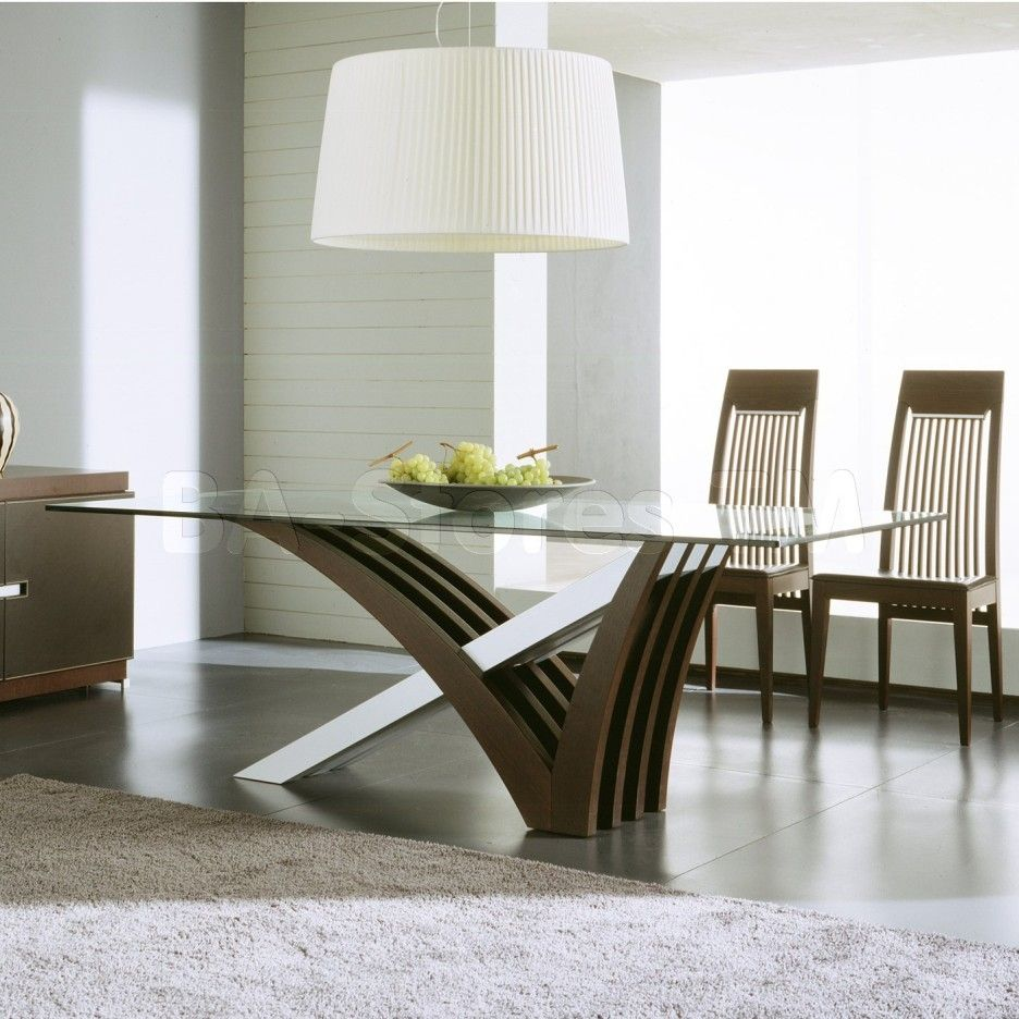 Modern Glass Dining Table Kitchen Glass Dining Table Sets Glass Dining Room Contemporary Dining Room Sets Dining Room Furniture Modern Furniture Design Modern