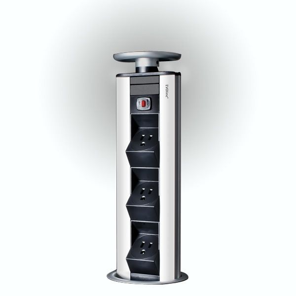 Beautiful Kitchen Pop Up Power Tower By EVOline® Port 1138 Silver   Evoline USA
