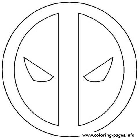 Print Logo Deadpool Simple Coloring Pages Easy Coloring Pages Coloring Pages Deadpool Cake