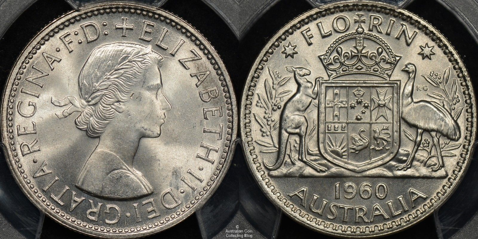 Australia Florin Pcgs Ms64 Coins Australiancoins