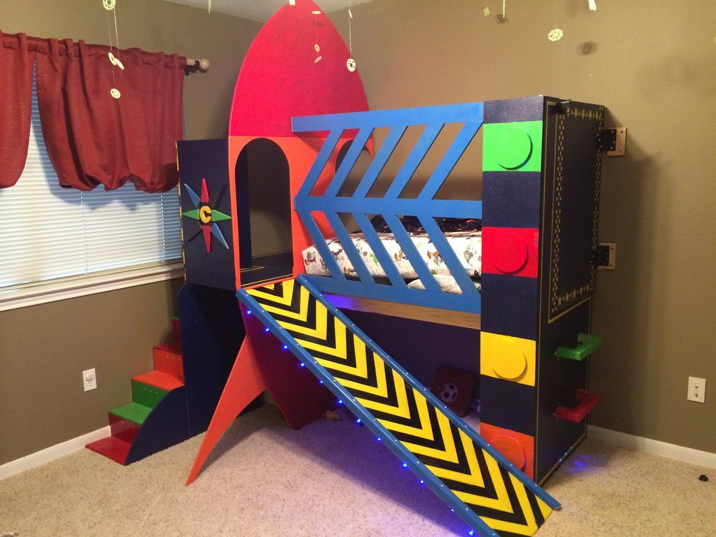 Rocket Ship Bed Baby Bedroom Bed Room
