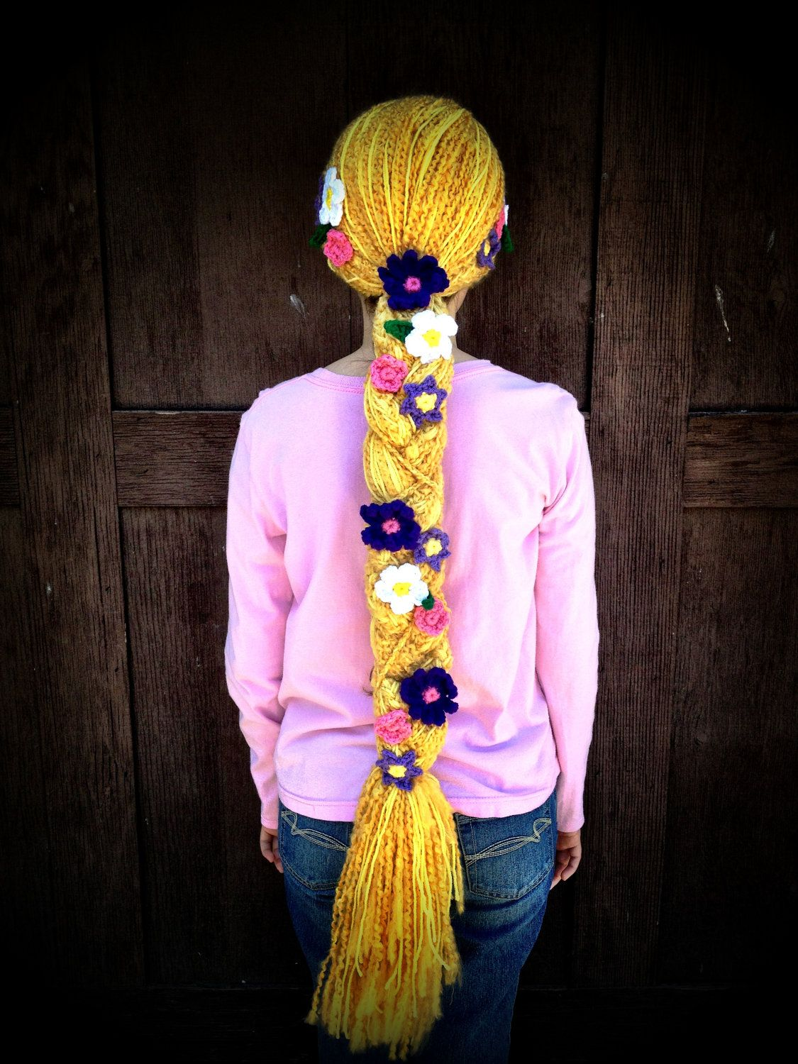 Disney Tangled Rapunzel Inspired Crochet Hat by HarvesterProducts ...