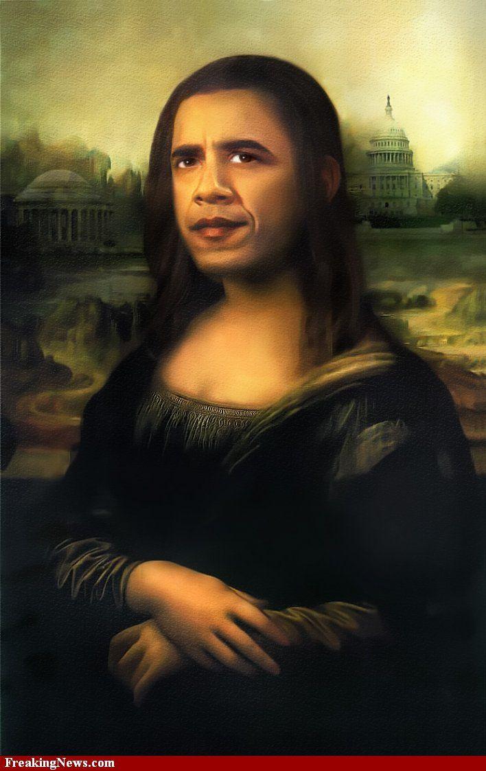 Barack Obamona Lisa Mona Lisa Parody Mona Lisa Mona Lisa Images